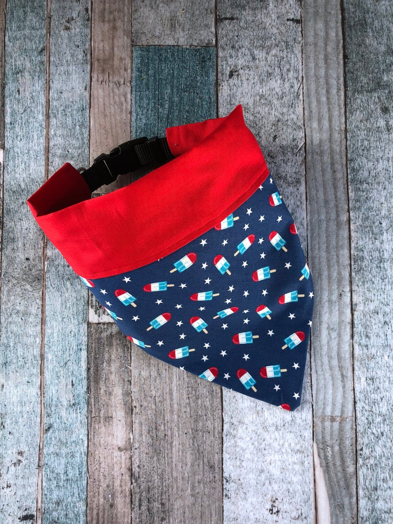 America Popsicle Over the Collar Dog Bandana