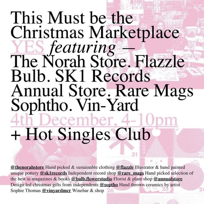 4/12/19 - Pop-up at This Must Be The Christmas Marketplace - Yes