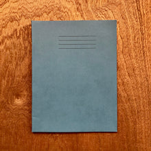 Blue exercise book squared