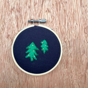 Peaceful Forest Embroidery (Blue)