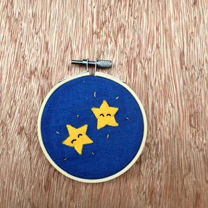 Dancing Night Star Embroidery