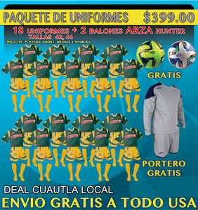 20 Marval  Cuautla Home Soccer Uniforms( Team Package). NUM.11 IMAGE CODE