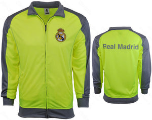 Real Madrid Official Licensed Track Jacket Neon/Gray