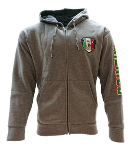 Mexico Zip Up Track Jacket Hoodie Men Gray Official Licensed