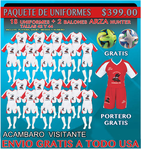 20 Marval Acambaro Away Soccer Uniforms( Team Package). NUM.3 IMAGE CODE