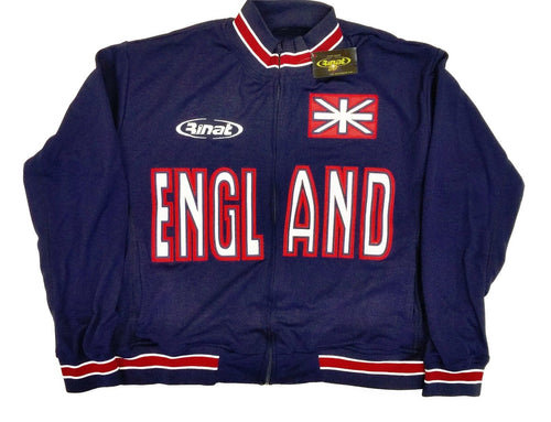 England Navy Blue Zip-Up TrackJacket By Rinat 100% Polyester