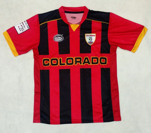 Colorado Arza Soccer Jersey Red and Black