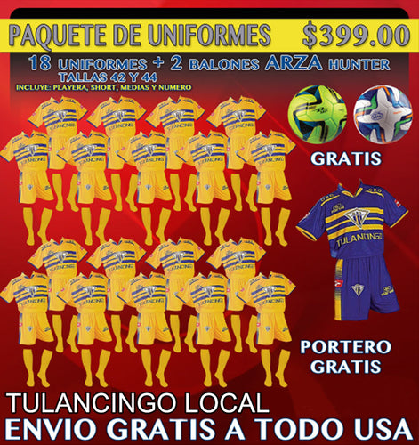 20 Marval Tulancingo Home Soccer Uniform (Team Package). NUM.8 IMAGE CODE