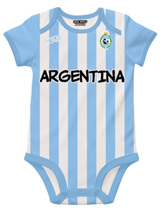 Argentina Blue White Soccer Baby Outfit Mameluco New W/O Tag Sizes 3 to 12 Month