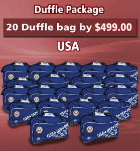 20 Duffle Bag Package USA Color Blue by Arza Soccer(Team Bag)