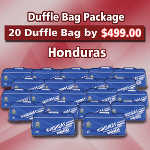 20 Duffle Bag Package Honduras Color Blue by Arza Soccer(Team Bag)