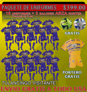 20 Marval Tulancingo Away Soccer Uniforms(Team Package). NUM.10 IMAGE CODE