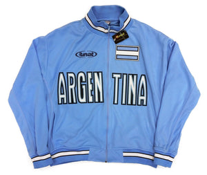 Argentina Baby Blue Zip-Up Track Jacket By Rinat 100% Polyester