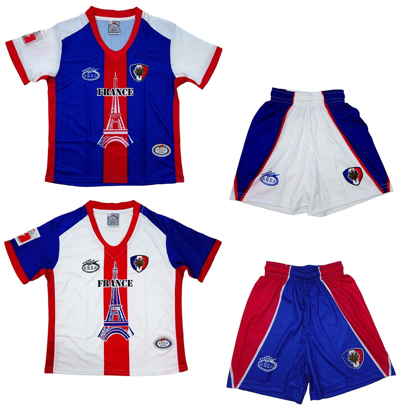 7dfa6507c France Home and Away Arza Youth and Adult Soccer Uniform ...