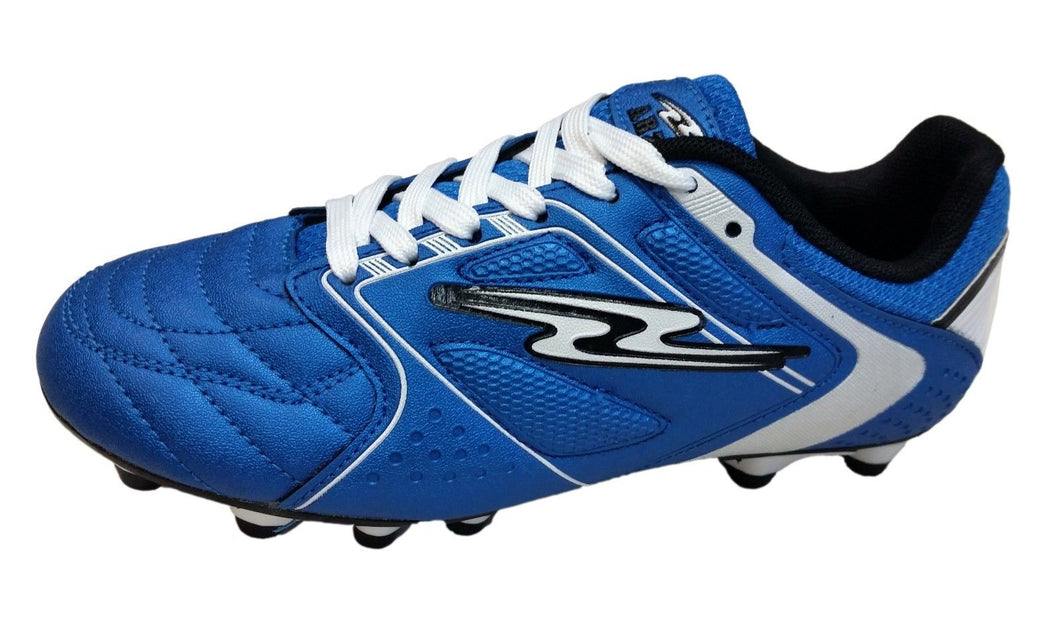 Arza Furios  Firm Ground Soccer Shoes  Royal Blue/White For Boy(Youth Sizes)