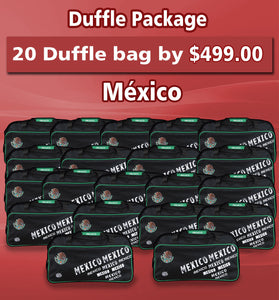 20 Duffle Bag Package México Color Black by Arza Soccer(Team Bag)