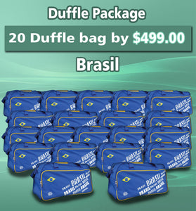 20 Duffle Bag Package Brasil Color Blue by Arza Soccer(Team Bag)