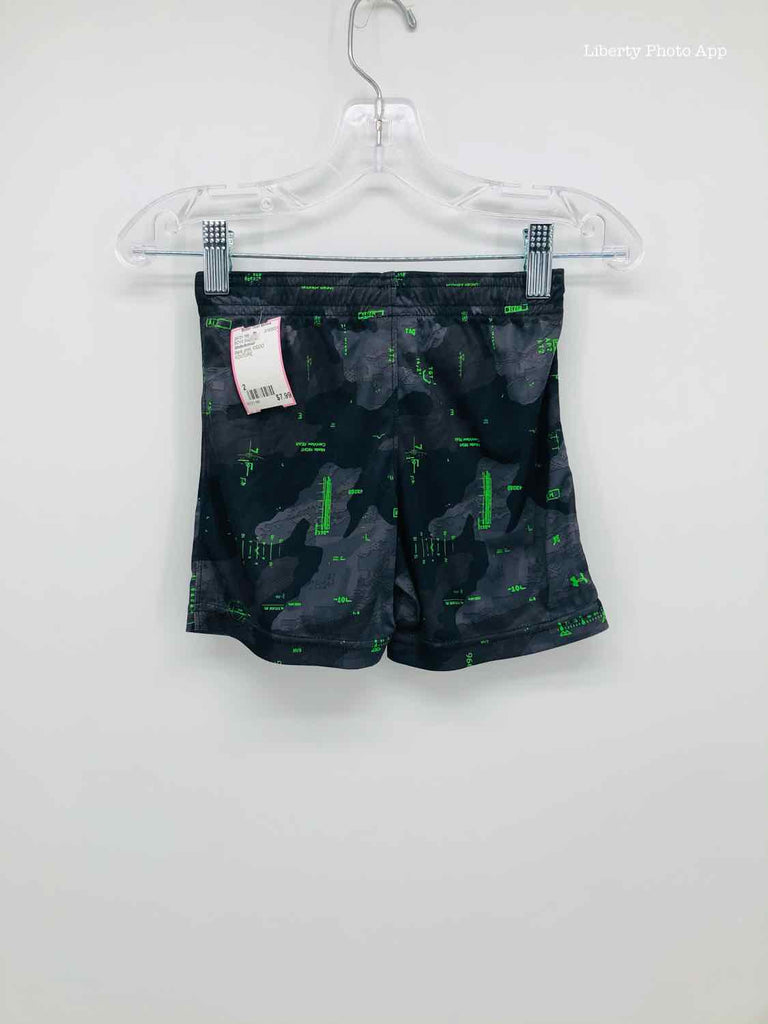 UnderArmour Size 2 black print BOYS SHORTS
