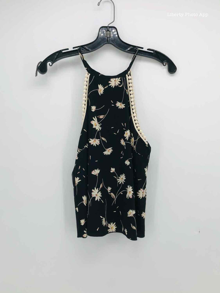 OLIVE TREE Size SMALL black floral BOUTIQUE