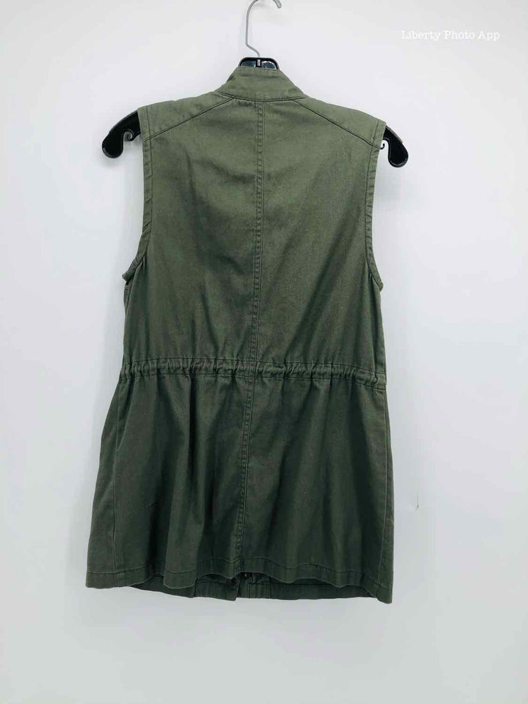 HARPER Size SMALL olive cotton vest BOUTIQUE