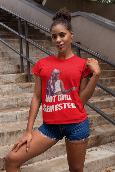"""Hot Girl Semester"" Short Sleeve T-shirt"