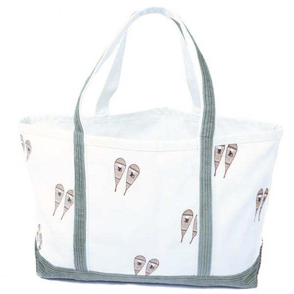 Large Cord Snow Shoe Tote