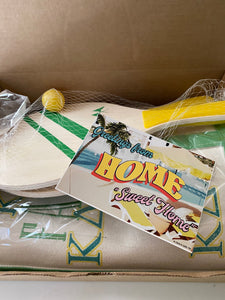 Post Card and Beach Paddle Ball Set
