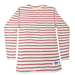 The Wharf Crab Sweater Natural w/ Nantucket Red