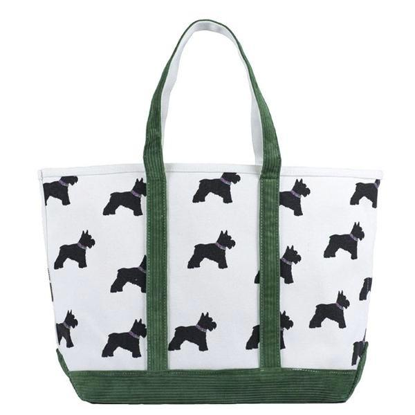Cord Scotty Dog Tote