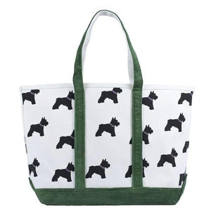 Large Cord Scotty Dog Tote