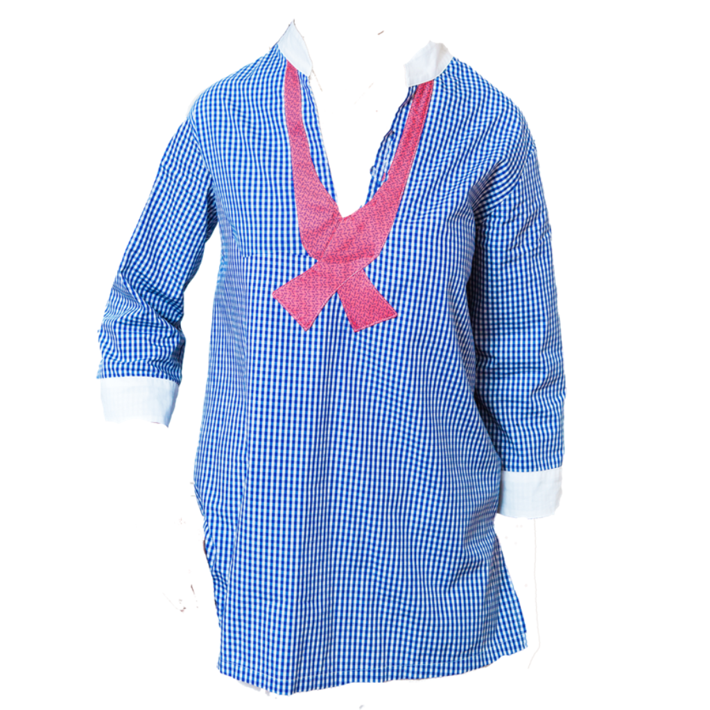 Anchors & Gingham Tunic
