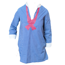 Load image into Gallery viewer, Anchors & Gingham Tunic