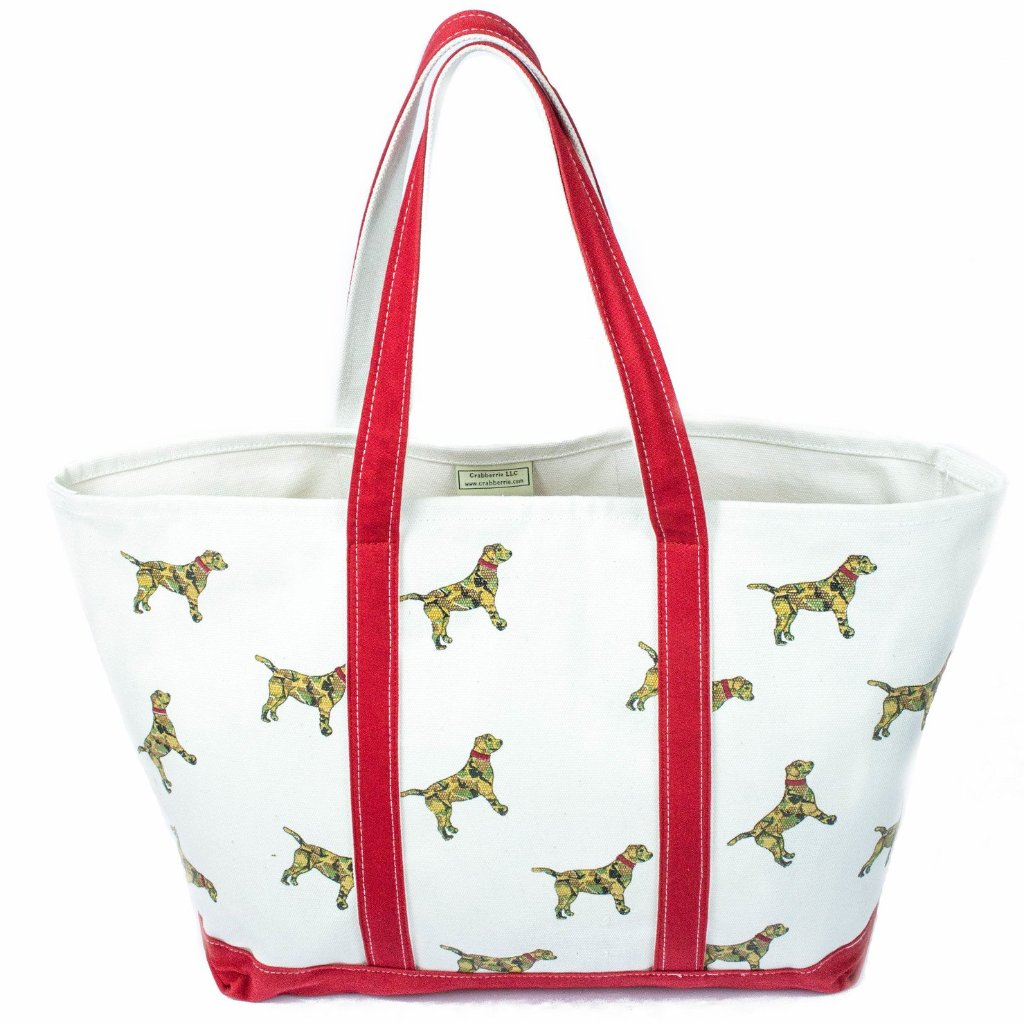 Large Red Camo Dog Tote