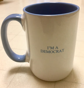 """I'm a Democrat"" mug (set of 2 mugs)"