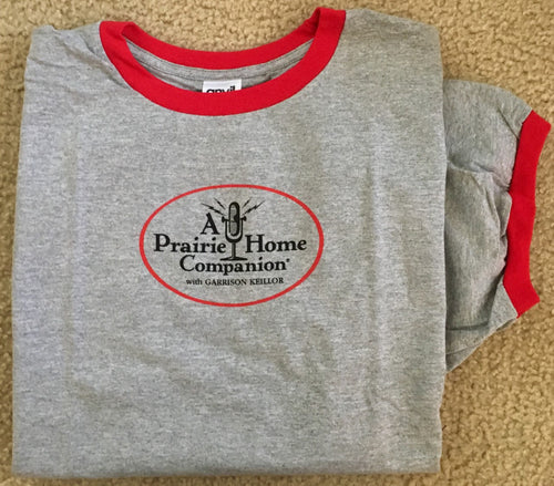 A Prairie Home Companion Grey Ringer Shirt