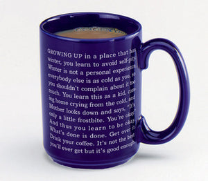 """Good Enough"" mug by Garrison Keillor (set of 2 mugs)"