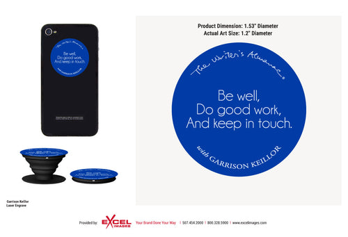 The Writer's Almanac Pop Socket