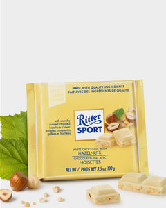 CHOCOLATE BLANCO C/ AVELLANAS RITTER  100 g