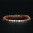S Shape Link 2 Carat Round Cut Diamond Line Tennis Bracelet in Rose Gold