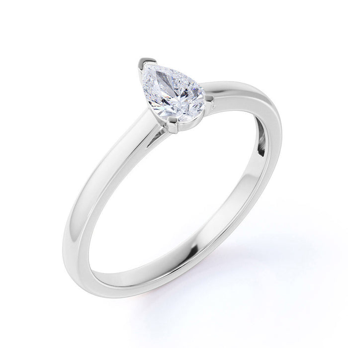 1.25 Carat emerald cut Aquamarine and Diamond Engagement Ring in White Gold