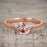 1 Carat Round cut Morganite Solitaire Engagement Ring in 10k Rose Gold