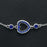 Heart Design 0.50 Carat Round Cut Bezel Set Sapphire Link Bracelet in White Gold