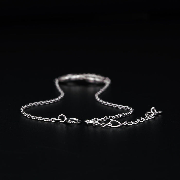 Infinity Styled 0.15 Carat Round Cut Diamond Link Bracelet in White Gold
