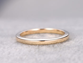 2mm plain Gold Wedding Ring Band in Rose Gold