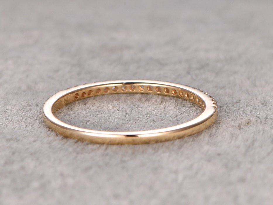 .25 Carat semi eternity Wedding Ring Band for Women in Yellow Gold