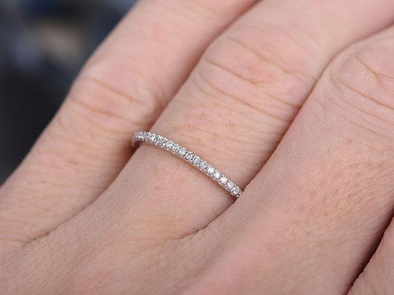.25 Carat Round cut Diamond Wedding Ring Band for Women in White Gold