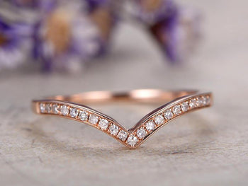 Bestselling .25 Carat Round cut Diamond Wedding Ring Band for Women in Rose Gold