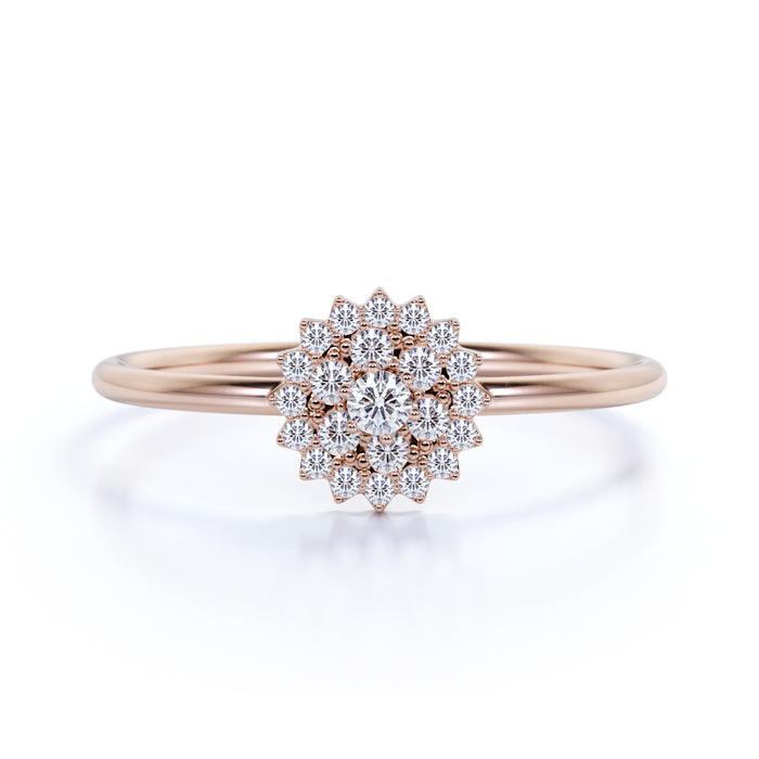 Round Brilliant Shaped Authentic Diamond And Simple Wedding Ring In Ro Shygems Com