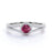 Split Shank 1.50 Carat Round Reddish Pink Tourmaline and Diamond Fishtail Engagement Ring in White Gold