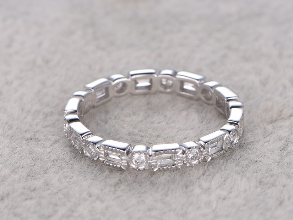 .50 Carat Round cut Diamond Wedding Ring Band for Women in White Gold